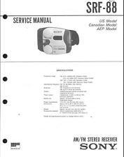 Sony  Original Service Manual für SRF-88