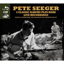 Pete Seeger FOUR (4) CLASSIC ALBUMS + RARE LIVE TRACKS Remastered NEW 4 CD