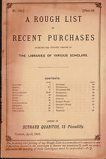 Bernard Quaritch Catalog of Books Recent Purchases  1893 #133