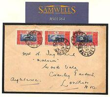MS1364 1928 France Colonies DAHOMEY Commercial*OUIDAH*Cover *Cotoneau* GB London