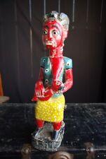 ANCIENNE STATUE MATERNITÉ COLON ART TRIBAL ETHNIQUE AFRIQUE CÔTE D'IVOIRE 48 CM