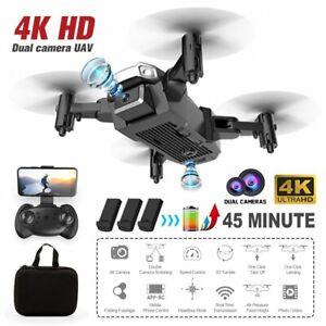 FPV Drohne mit 4K HD WIFi Kamera 2.4G RC Selfie Quadcopter GPS *3 Batterien*