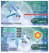 Pokemon Let's Go Pikachu & Eevee ✨ SHINY ✨ 6 IVs 1 LEVEL ARTICUNO FAST DELIVERY