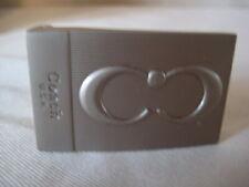 "Coach CC Silver-tone Belt Buckle 2"" by 1 ¼"""