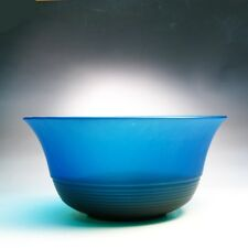 Handblown Italian MURANO Art Glass Bright Blue-Teal-Green Bowl - Very Large Bowl