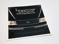 1995 Lexus LS 400 Redesign Preview Brochure