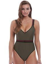 Freya Club Envy Plunge Swimsuit 6826 Womens Non-Wired Swimwear Khaki