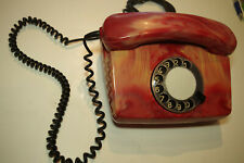 Siemens BP FeTAp 791-1 Vintage rotary Telephone interesting colour red 80s