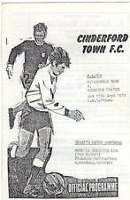 CINDERFORD TOWN  V  REDDITCH UTD 15/9/1979 FA CUP PROGRAMME