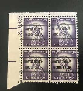 Vintage Statue Of Liberty Purple Stamp Block #25842 Stamped North Hollywood Rare