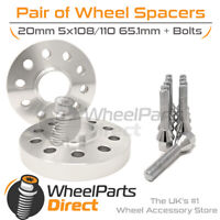 Wheel Spacers (2) & Bolts 20mm for Toyota ProAce Mk2 16-20 On Aftermarket Wheels