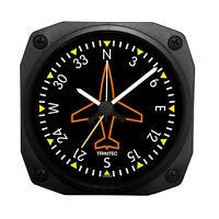 "Trintec 3.5"" Classic Directional Gyro Desk Alarm Clock DM62 Great Aviation Gift"