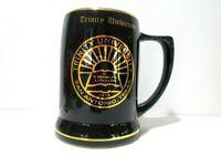 Trinity University Beer Mug, San Antonio TX, E Tribus Unum, Ceramic Black Gold