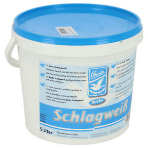 Backs Schlagweiß für Taubenschlag 5 L Desinfektion & Pflege im Taubenstall