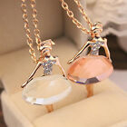 HOT Pendant New Women Chain Crystal Necklace Ballet Alloy Gold Plated Fashion