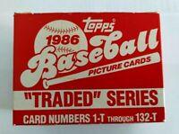 1986 Topps Traded Baseball Factory Set 1-132 Bonds Bo Jackson Canseco RC Rookies