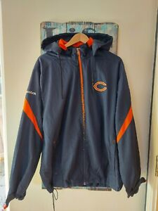 Vintage Retro NFL Reebok Bears Football Jacket Size L American