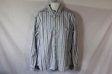 Men's Blue, Purple & Green Striped EDDIE BAUER Casual Dress Shirt - Size XL