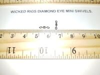 50 x Size 12 Diamond Eye Rolling Swivels 16lb (7.5 kg) Breaking Strain + Gift.