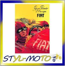 FIBL07 FIAT 500 CARTOLINA IN LATTA CM 15X21 GRAN PREMIO/FIAT UFFICIALE ORIGINALE