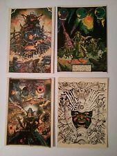 4 cartes postales Philippe Druillet  La Nuit et Gail Les Humanoïdes Associés