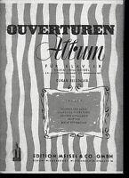 OUVERTÜREN-ALBUM für Klavier ~ mit Akkordeon Bez.
