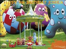 """PARTY PACK - IN THE NIGHT GARDEN -PERSONALIZED 10 x 7.5"""" ICING CAKE TOPPER"""