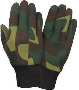Camouflage Sportsmans Jersey Non-Slip Work Gloves