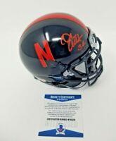Trev Alberts Nebraska Cornhuskers Signed Autographed Schutt Black Mini Helmet