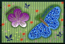 Switzerland 2016 MNH Butterflies & Flowers Laser Cut 2v M/S Insects Stamps