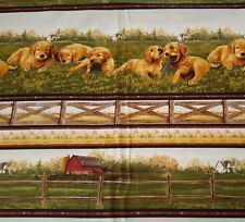 Golden Retrievers Labs BTY Hautman VIP Cranston Dogs Puppy Stripe