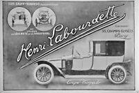 PUBLICITÉ 1914 HENRI LABOURDETTE SON SKIFF TORPEDO COUPÉ EST UNIQUE DE LÉGÈRETÉ