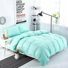 Cal King All Season Down Alternative Comforter Egyptian Cotton Aqua Blue Solid