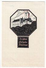 HUBERT WILM: Exlibris für Wilhelm Krähmer; Burg; 1906