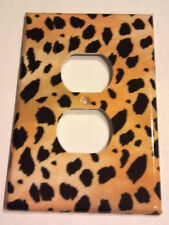 Leopard Cheetah Animal Print Outlet Plate Cover Bedroom Bathroom Wall Decor