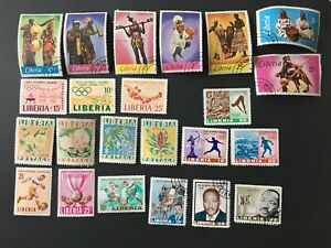 23 OLDER LIBERIA STAMPS. 1960'S. SOME USED & SOME UNUSED