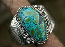Natural Turquoise 925 Silver Ring Men Women Vintage Wedding Engagement Size 6-10