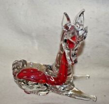 Estate Blown Glass Reindeer, horse or Deer Not sure & Not Perfect but Adorable