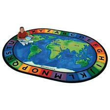 Carpets For Kids 4106 Circletime A Round The World 6.75 ft. x 9.42 ft. Oval C.