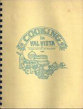 MESA AZ 1988 VINTAGE *COOKING IN *VAL VISTA VILLAGE COOK BOOK *ARIZONA COMMUNITY