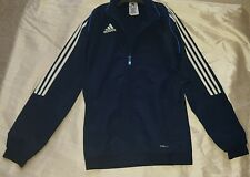 Boys 32/34 Chest ADIDAS CLIMATE Jacket Jackets Zip Pockets in Black Euro 156cms