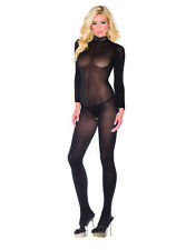 BeWicked B88 Sheer Long Sleeve Crotchless Jumpsuit (Black;One Size)