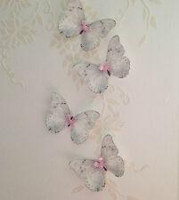 Butterflies Nursery Accessories  Baby Girls Bedroom Sparkling  Butterfly