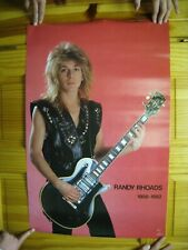 Randy Rhoads Poster Body Shot With Guitar Ozzy Osbourne Quiet Riot