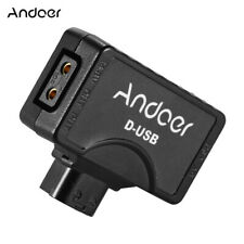 Andoer D-Tap to 5V USB Adapter Connector for V-Mount Camcorder Camera A7E2