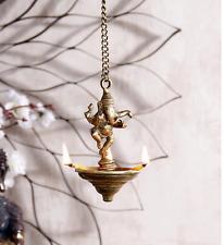 Dancing Ganesha Ganesh Hanging Oil Lamp Brass Statue Sculpture Ganpati Art Decor