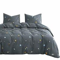 Wake In Cloud - Spaces Comforter Set, 100% Cotton Fabric with Soft Microfiber Fi