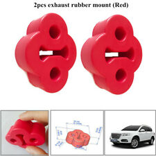 2x2-Hole Car Rubber Exhaust Tail Pipe Mount Bracket Hanger Insulator Stylish Red