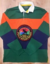 Ralph Lauren Polo Country Sportsman Patch Long Sleeve Rugby Shirt Size S M L XL
