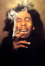"BOB MARLEY smoking  POSTER rare  24.25"" X 36"" NOS (b400)"